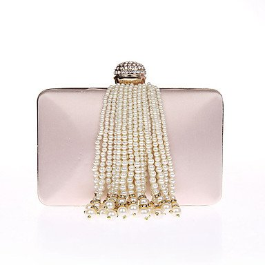pwne L. In West Frauen'S Fashion Luxus High-Grade Imitation Pearl Quaste Abend Tasche Champagne