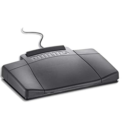 Philips 2210 Foot Control Ergonomic Slim [for Dictation Transcription Kits 720 725 730] Ref LFH2210