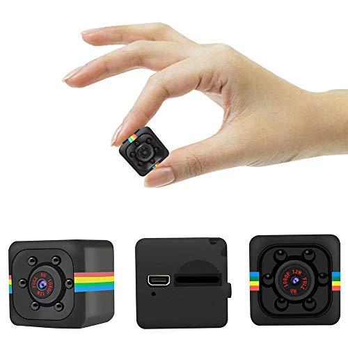 Mini Hidden Kamera SQ11, HD 1080P, unterstützt 32G SD-Karte mit Nachtsicht, 140 Weitwinkel-Micro Spy Nanny Sport Cam für Home, Büro Security Spy Cam Kamera