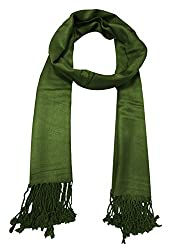 URBAN-TRENDZ Latest Collection of Satin Pashmina Scarf Stole Duppatta Shawl with twisted fringes in Superfine Quality (Summer Colours) UT2327OLI