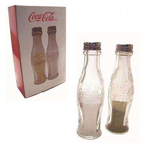 alz- und Pfefferstreuer aus Glas - Cola Flaschen Salz und Pfeffer Gewürzstreuer Coca Cola Vintage im 2er Set (Glas-cola-flaschen)