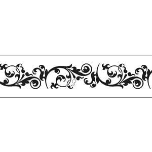 Stencil professionale in pvc fiori 90x15cm cod st 044p for Stencil x cucina
