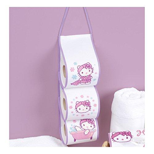 Vervaco - Supporto per rotoli di carta igienica, la progettazione Ciao Kitty, (Ciao Kitty Carta)