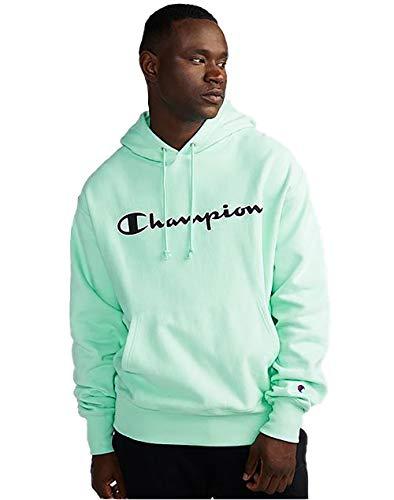 Champion Life Men's Reverse Weave Pullover Hoodie, Mesh & Leather Logo 12 Oz Reverse Weave Fleece