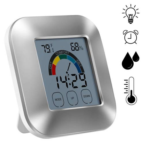 Indoor Digital higrómetro, termómetro tiempo pantalla táctil
