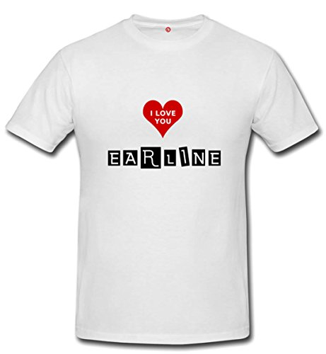 T-shirt Earline - Print Your Name White