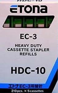 Agrafes refill cassette hDC (vert) pour 10 feuilles pour 40–55 etona eC3 cassettes 5 a/210/agrafes dr. gold