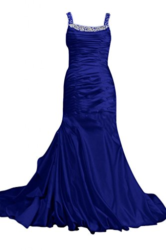 Sunvary Cinghia Rhinestore lunghe sirena Prom Party Dress Royal Blue