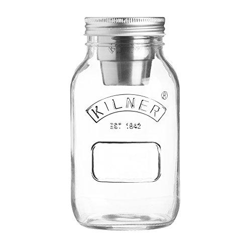 KILNER Food To-Go-Glas - der ideale 2Go Lunchbecher für unterwegs, clever | stylisch | schadstoffrei | 1 Liter