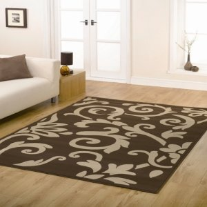Retro Classics Chocolate / Latte Contemporary Rug Rug Size: 225cm x 160cm (7 ft 4.5 in x 5 ft 3 in)