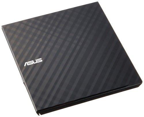 Asus SDRW-08D2S-U Lite externer Slim DVD Brenner (8x DVD±R, 6x DVD±R DL, 5x DVD-RAM, USB 2.0) inkl. Cyberlink Power2Go, Hochglanz Schwarz