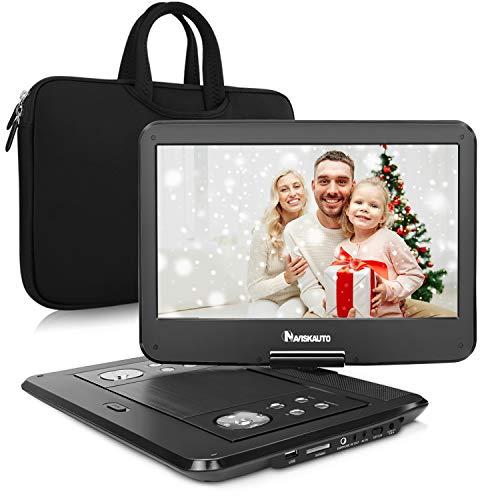 HD 14 Zoll Tragbarer DVD Player Auto Kopfstütze Monitor Kinder 5 Stunden Akku 270° Drehbarer Bildschirm 1366*768 DVD Memory Funktion Kostenlose Tasche
