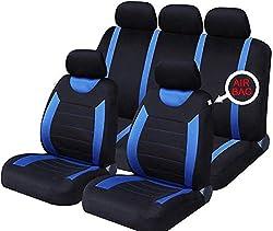 Universal Autositzbezüge W/Kopfstütze 9 STÜCKE Atmungsaktives Netzgewebe Versenkbare Sitzbezüge Ersatz für die meisten Autos