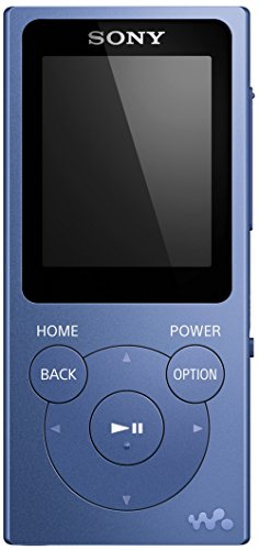 Sony NW-E394 Walkman 8GB (Speicherung von Fotos, UKW-Radio-Funktion) blau (Radio Mp3 Player Sony)