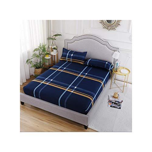 GYYbling Blue Stars Europa Spannbettuch mit 2 Pillowcase Adult Reactive Printed Bettwäsche Spannbettlaken Größe Bettlaken mit Elastic, Typ 5,2 Pillowcase48X74Cm -
