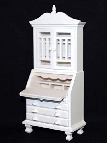 Sekretär Geschirrschrank weiss edel Puppenhausmöbel Kueche Miniaturen 1:12