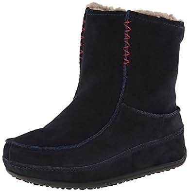 Fitflop Mukluk MOC 2, Boots femme - Bleu (Super Navy),UK:3 (EU:36)