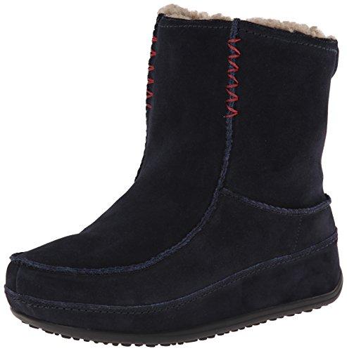 Fitflop Mukluk Boots (Fitflop Mukluk MOC 2, Damen Stiefel, Blau (Super Navy), Gr. 38 EU / 5 UK)