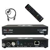 Maxytec Multibox 4K UHD 2160p H.265 HEVC Android & E2 Linux, 8GB Flash, USB3.0, DVB-S2 Sat & DVB-T2/C Combo Tuner Receiver Schwarz