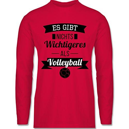 Volleyball - Es gibt nichts Wichtigeres als Volleyball - Longsleeve / langärmeliges T-Shirt für Herren Rot