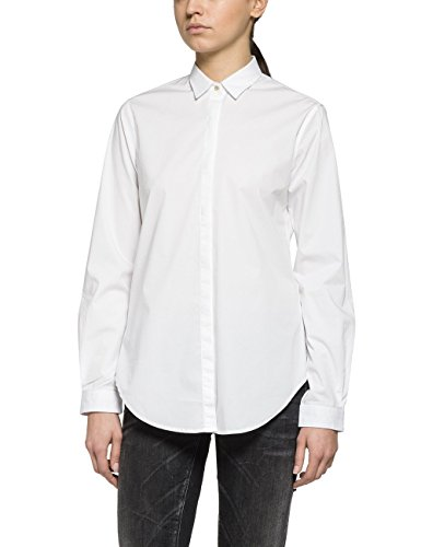 Replay Bluse, Blouse Femme Blanc (OPTICAL WHITE 1)