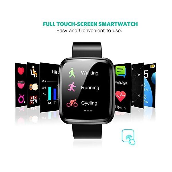 Hommie Smartwatch, S2 Reloj Inteligente con Pantalla Táctil Completa, Pulsera Actividad Inteligente ImpermeableIP67 con… 3