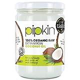 pipkin Aceite de Coco 100% Orgánico, Natural, Virgen Extra Puro. Aceite de coco Multiusos, Prensado en Frío, no GM, Hidratante de Cabello / Piel / Cuerpo. (500ml)