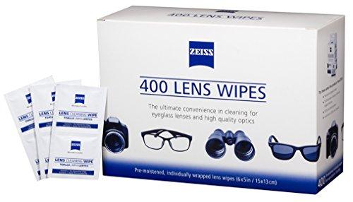 Nueva Lente Zeiss prehumedecidas limpieza toallitas limpia gafas, cámaras, teléfonos móviles, 400 count, 1