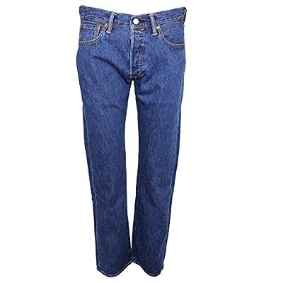 Levis Jeans 501 Mens Stone Blue Denim