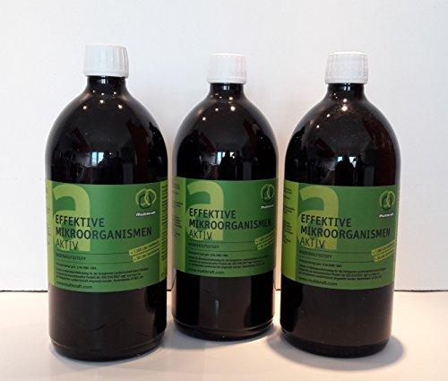 Effektive Mikroorganismen Aktiv (EM-Aktiv), Bodenhilfsstoff - Dünger 3 X 1 l Fl.