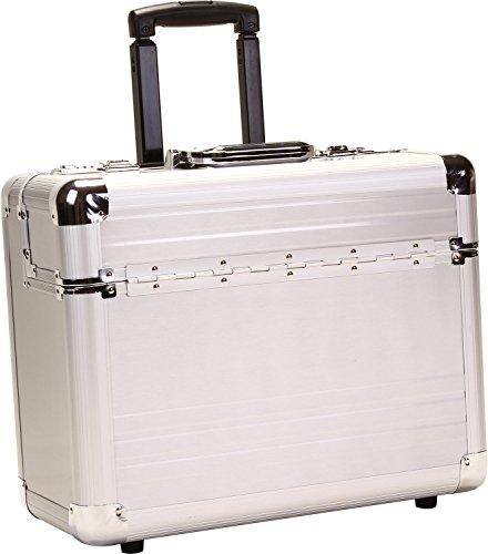 Dermata Valise de pilote en aluminium pour ordinateur portable 17\\