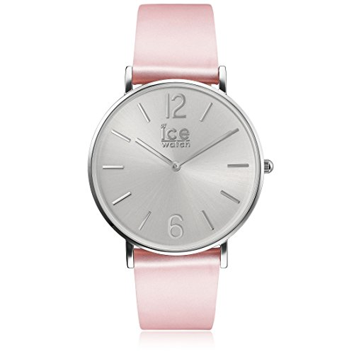 Ice-Watch - CITY tanner Pink Silver - Montre rose pour femme avec bracelet en cuir - 001511 (Small)