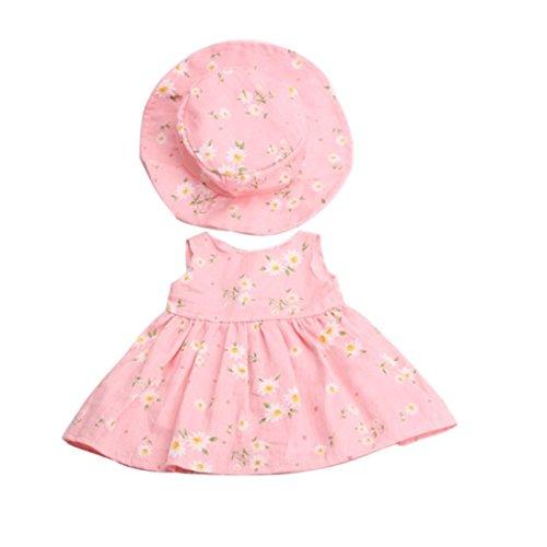Elecenty 2pcs Puppenkleidung Kinderspielzeug Rock und Hut Puppen für 18inch Puppen mit Hübscher Kleidung Ohne Puppe Babyspielzeug Lernspielzeug (2PCS, C)