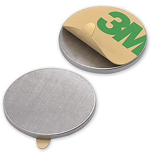 Magnastico Neodym Scheibenmagnete Selbstklebend Größe 10 x 1 mm 10 Stück N35 starke Klebemagnete Rund für Magnettafel, Kühlschrank Pinnwand Magnete