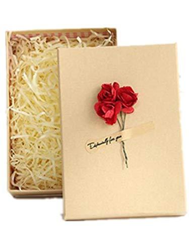 VIDOO 5Pcs Universal Holiday Geschenkbox Kraft Papierbox Weltschirppchen Geschenkbox Mit Handtasche-Lila Rose (Gelb)