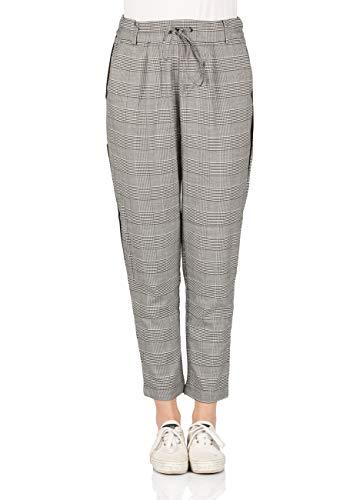 ONLY Damen Hose ONLPOPTRASH Soft Check Panel PNT, Größe:XL - L 34, Farbe:Black W. Check HTA-2438