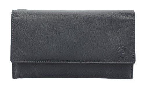 Portafoglio di pelle Mala Leather. Collezione ORIGIN - con protezione RFID 3272_5 Verde Blu marino