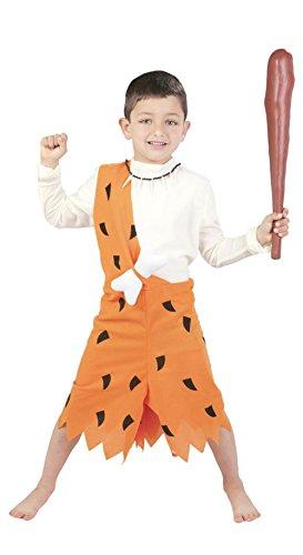 Guirca - Costume Primitivo Bambino Delle Caverne - Colore - Arancione, Taglia - Small 5-6 Anni, 110-115 Cm