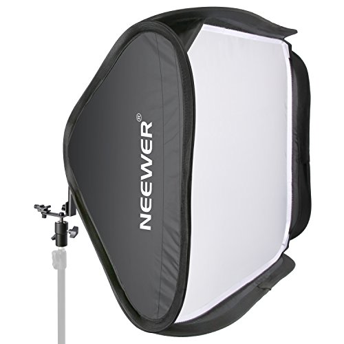 Neewer 24'x24'/60cmx60cm Professionale Portabile pieghevole spendo-flash per camera  Studio Fotografico , Ritratto Soft Box con Forma di L & Anello Flash, Esterno Diffusore e Borsa di Trasporto per Nikon SB900 SB800 SB600, Canon 580EX 580EXII 430EXII 430EX, Neewer TT860, TT850, TT560, Yongnuo, Nissin, Pentax, Olympus e altri Speedlite con Hotshoe Slitta Calda Universale