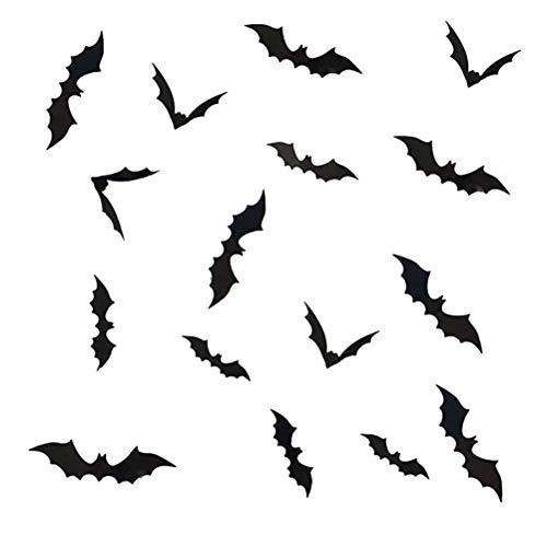 t 3D Aufkleber DIY PVC Bat Wandaufkleber Dekorative Abziehbilder Home Halloween Dekoration Tapeten für Kinderzimmer Baby Zimmer ()