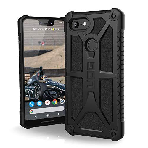 Urban Armor Gear Premium Monarch Schutzhülle nach US-Militärstandard für Google Pixel 3 XL (schwarz) [Verstärkte Ecken, Sturzfest, Leder, Strukturierter Rahmen, Vergrößerte Tasten] - 611241114040