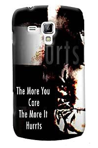 Fuson Sad Girl Back Case Cover for SAMSUNG GALAXY S DUOS S7562 - D4068