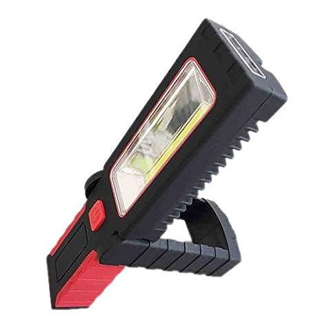 Hrph COB LED Flashlight Lumière de Travail Magnétique Socle Suspendre Crochet Pivotant Rotatif Lampe Torche