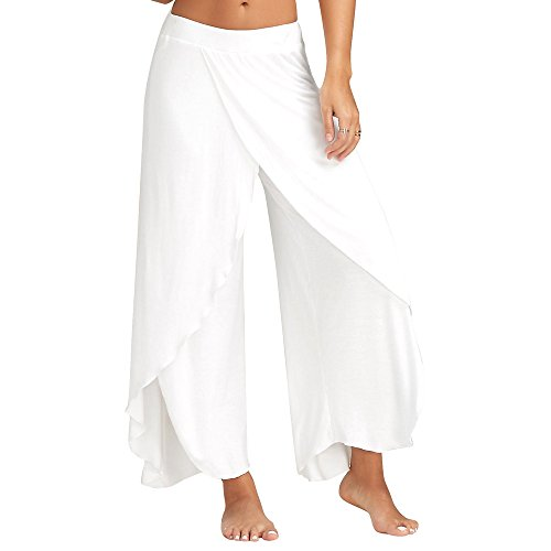 Harpily Moderne Tanz KostüM Hose Weibliche Erwachsene Gerade Seite Offene Gabel Performance Lose Breite Bein Yoga Pants