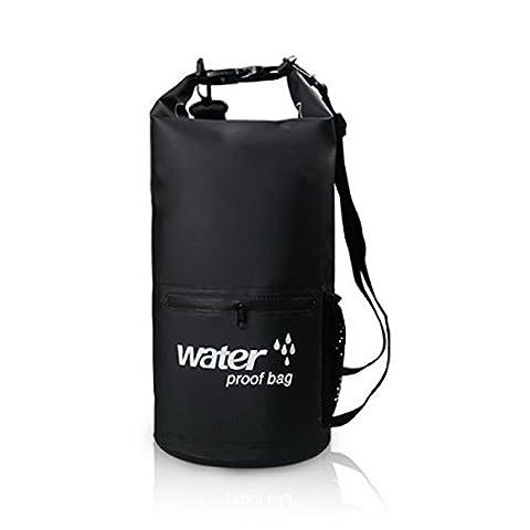 Acmebon Sac de sport imperméable-Sac de compression à sec pour le kayak, la plage,le rafting,la navigation de plaisance,la randonnée,le camping Noir