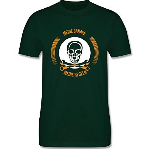Statement Shirts - Meine Garage meine Regeln - Herren Premium T-Shirt Dunkelgrün