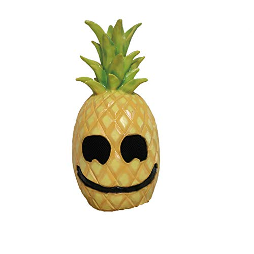 wyxhkj Halloween-Maske Latex Ananas Gesicht Frucht Kopf Maske Kostüm-Requisiten (A)