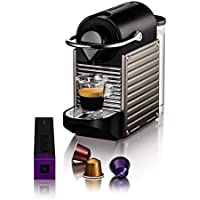 KRUPS - YY4127FD - Machine expresso Nespresso - PIXIE TITANE- Cafetière à dosettes - Machine à café - Cafetière expresso