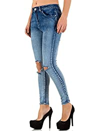 Destroyed Skinny Jeans Für Damen bei Ital-Design
