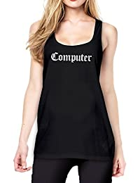 Computer Tanktop Girls Black Certified Freak